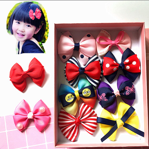 Childrens hair accessories Korean hairpin bow little girl Princess hairpin girl headdress baby clip side clip headdress
