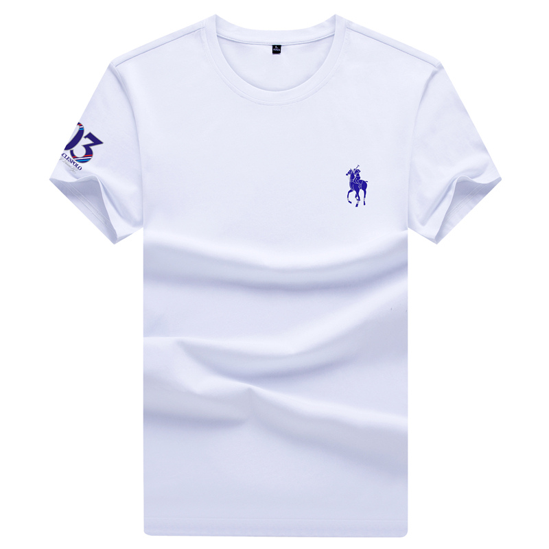 Mens short sleeve T-shirt summer new youth half sleeve bottom polo shirt top solid round neck polo t-shirt