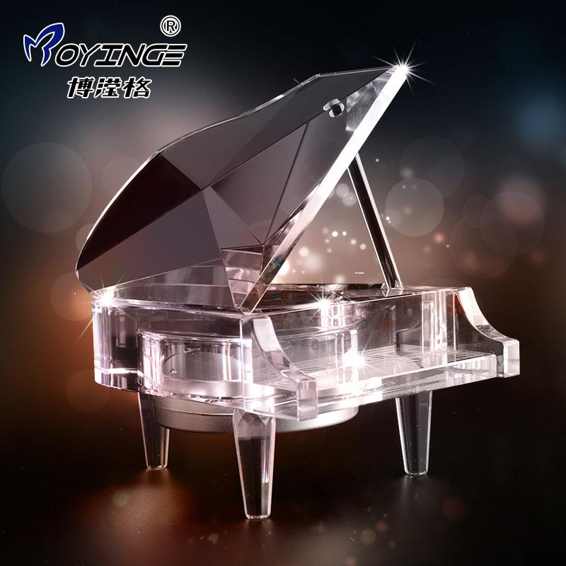 圣诞情人节生日礼物水晶音乐盒钢琴八音盒送女朋友送女生创意礼品图片
