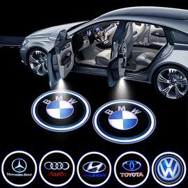 车门感应投影灯迎宾灯照地灯汽车内氛围奔驰奥迪宝马改装用品大全图片