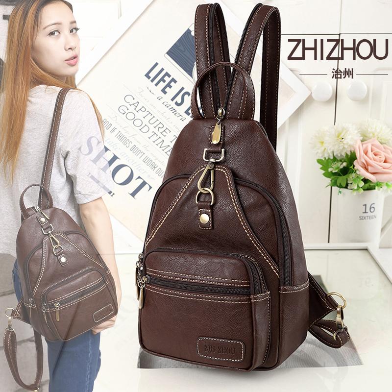 Chest bag 2019 new autumn winter retro backpack womens Korean Mini fashion leisure backpack student versatile bag