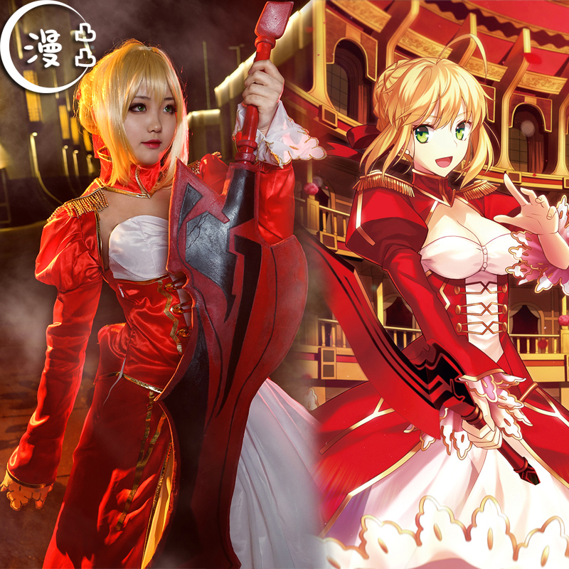 Fate/Grand Order吾王saber�t�Y服Nero尼�cosplay服 �勇�cos服女