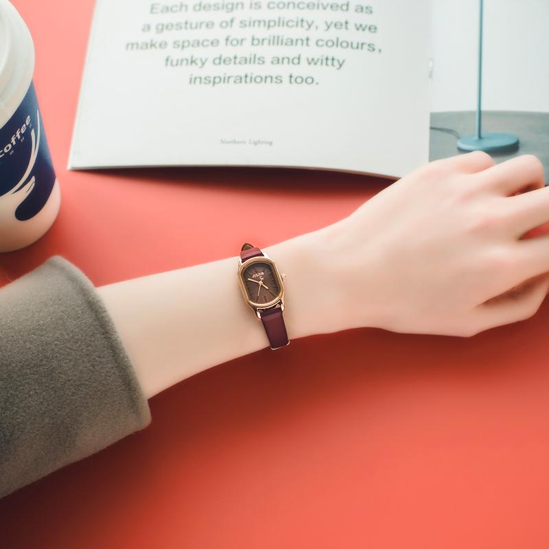 聚利时手表女简约气质小巧细带精致潮2020新款防水方形ins风女表