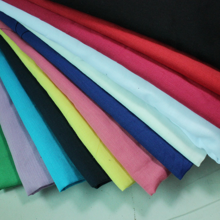 Feihuo DIY handmade 60 high count cotton pure color ultra thin BJD baby garment lining fabric 1 / 4m