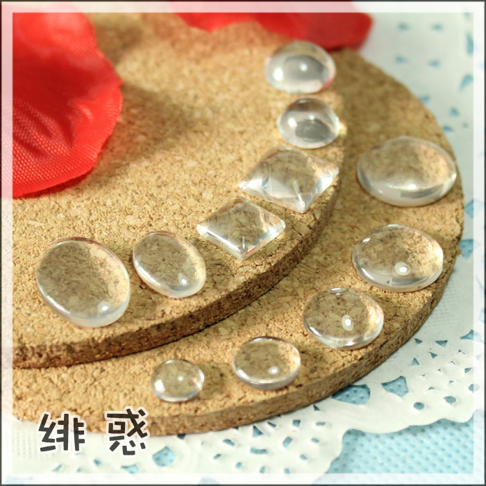 DIY handmade 3-20 BJD baby material accessories, time gem glass patch size are available
