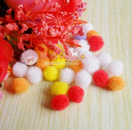 15 color 8mm plush ball wool ball 1 yuan 20 pieces of hand DIY BJD baby clothes accessories