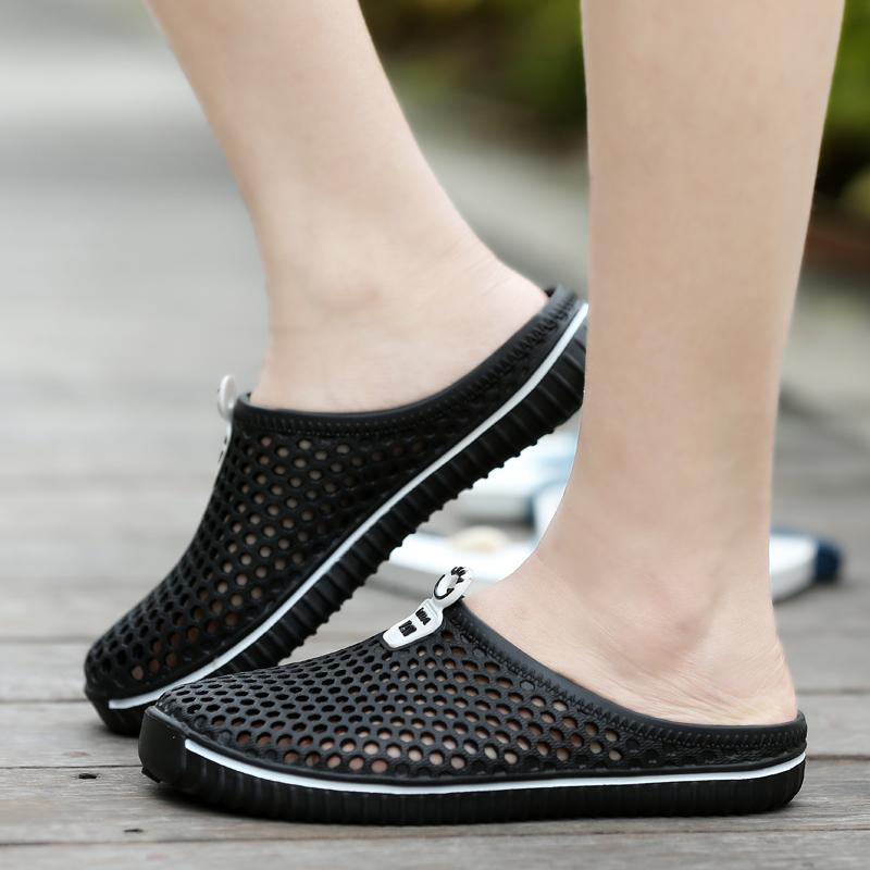 夏季包头拖鞋男凉鞋ins潮雨鞋凉拖外穿懒人半拖时尚潮流网休闲软