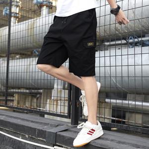 夏季五分工装短裤男士宽松中裤子