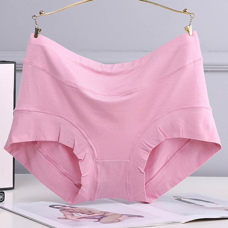 3-pack panties womens oversize wide brim modal high waist plus fat mom breathable and comfortable womens briefs