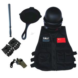 儿童特警特种兵套装吃鸡装备电动玩具枪头盔手铐对讲机战术马甲