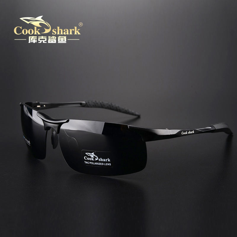 Official flagship cook shark polarizing sunglasses drivers glasses driving glasses sunglasses mens fashion day and night