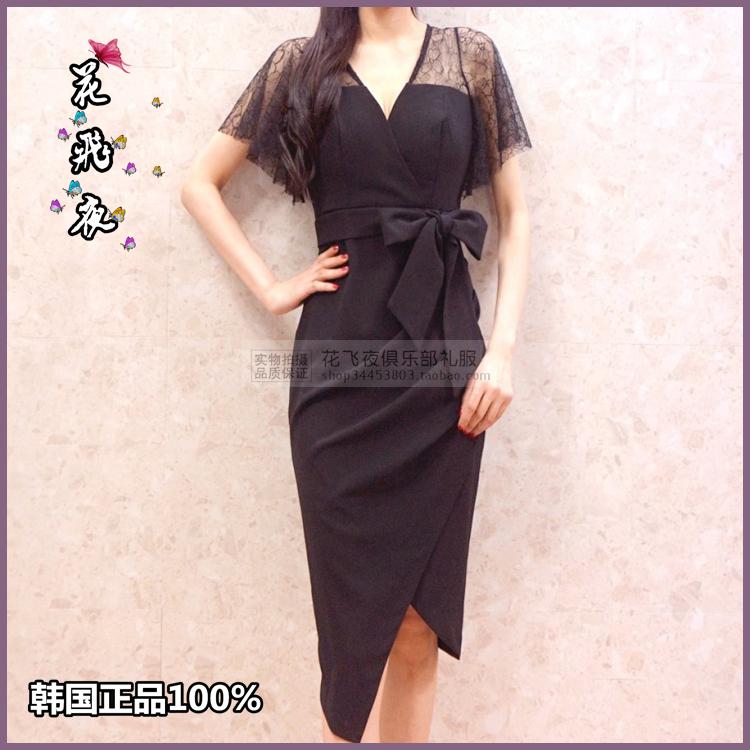 【花飞夜】韩国进口女装2018夏款连衣裙韩版修身洋装裙短礼裙RE28