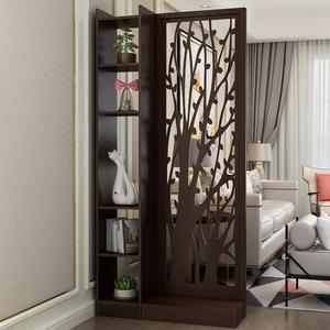 进门入户玄关柜门厅小户型双面现代简约实木卧室客厅屏风隔断装饰