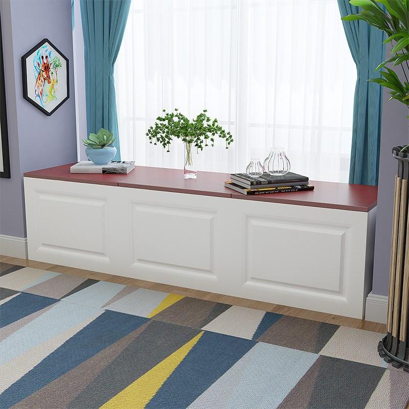 储物柜地柜可坐阳台窗台柜长条柜子定制自由组合落地柜矮柜飘窗柜