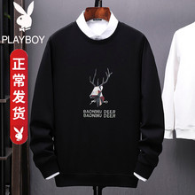 Playboy long sleeve t-shirt men's autumn clothes with bottoms on clothes trend spring and autumn style spring sweater men