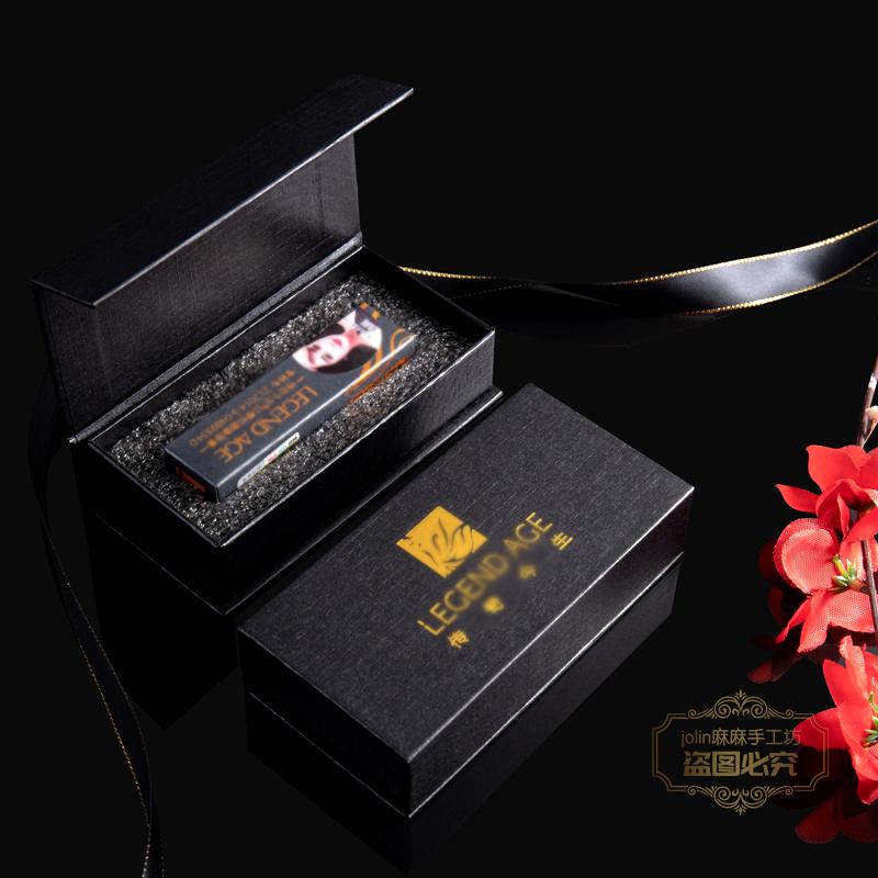(用1元券)高档烫金传奇logo翻盖盒独立包装盒今生唇膏口红礼品盒礼品袋