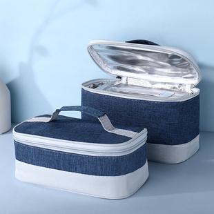 饭盒保温包保温袋手提外卖袋子上班带饭午餐便当包铝箔加厚帆布袋