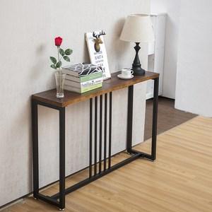 北欧玄关桌 实木复古玄关台 现代简约铁艺餐边桌长条窄边桌子案台
