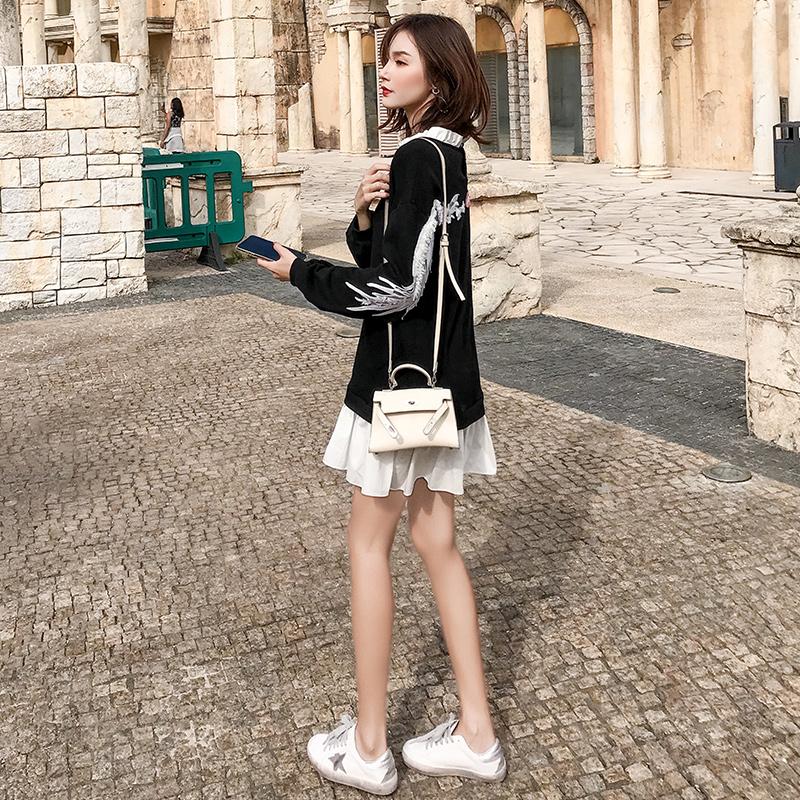 2019新款女装春装很仙的法国小众连衣裙秋冬学生法式少女仙女裙子