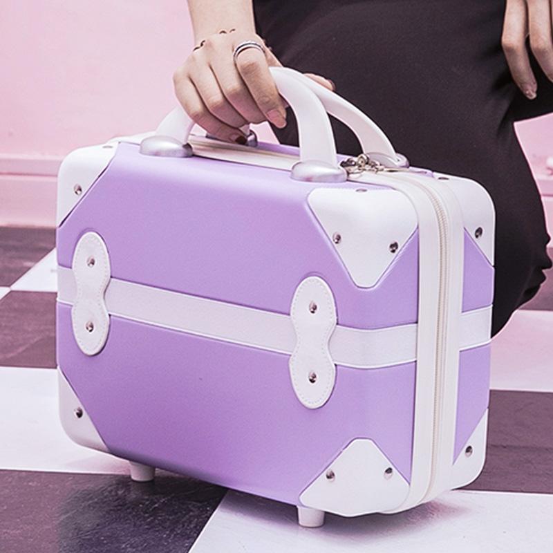 韩版14寸化妆箱可爱随身便携手提箱简约结婚箱小旅行箱迷你行李箱