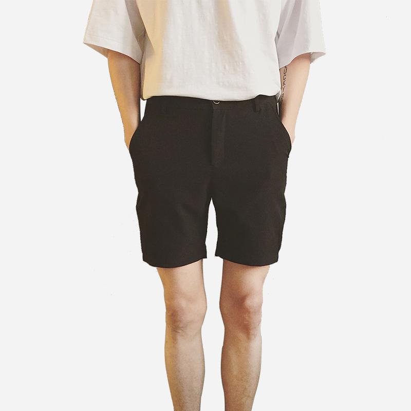 ins超火林弯弯les帅t纯色短裤男生夏季情侣五分裤休闲西装短裤男