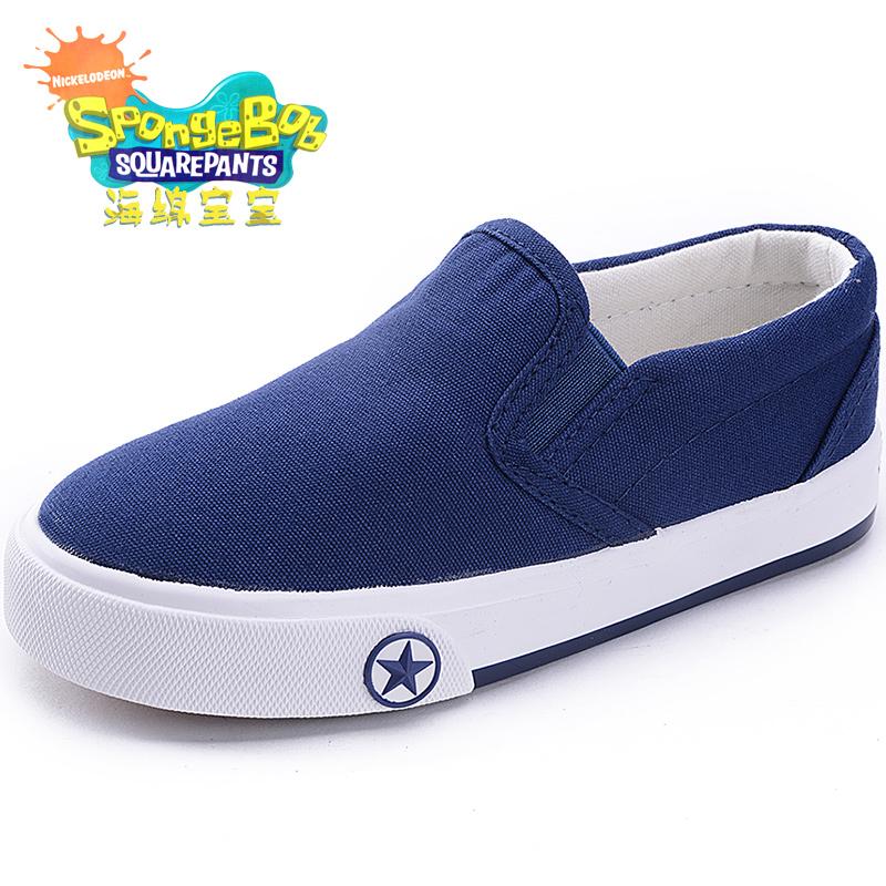 兒童帆布鞋男童鞋小白球鞋女童 板鞋寶寶布鞋低幫一腳蹬懶人鞋