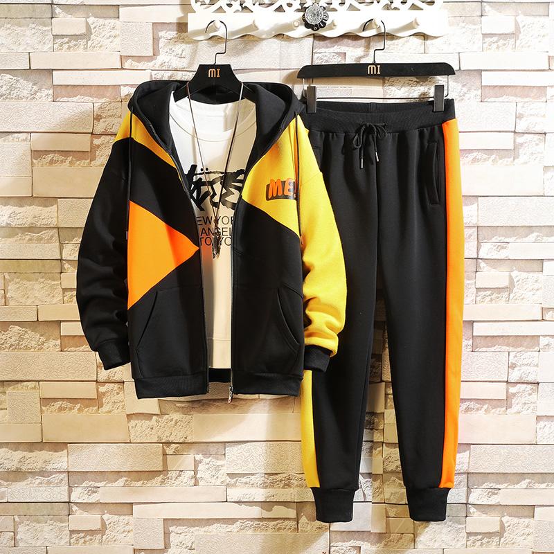砖墙 秋季学生开衫夹克两件套运动休闲外套卫衣套装男 TZ596-P95
