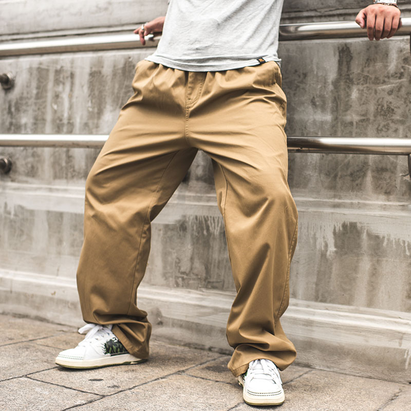 潮胖子加肥大码直筒宽松休闲裤 110-280斤肥佬工装裤多口袋男长裤
