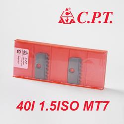卡麦斯CPT螺纹铣刀片40I 1.5ISO MT7内螺纹梳刀片 螺纹铣刀杆刀片
