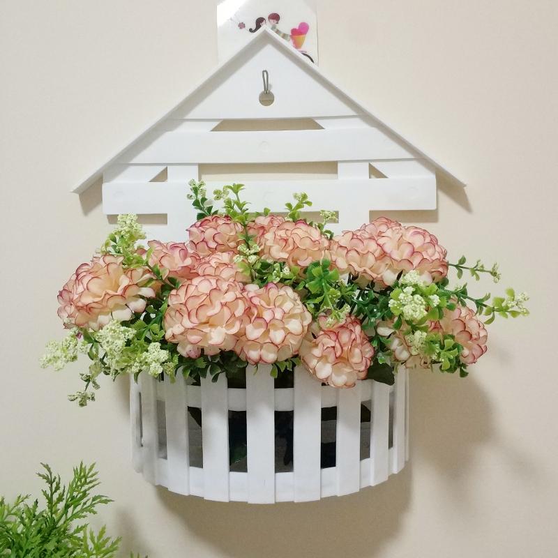 小房子壁挂花卉盆栽花卉植物室内鲜花速递/花卉仿真/绿植园艺餐厅