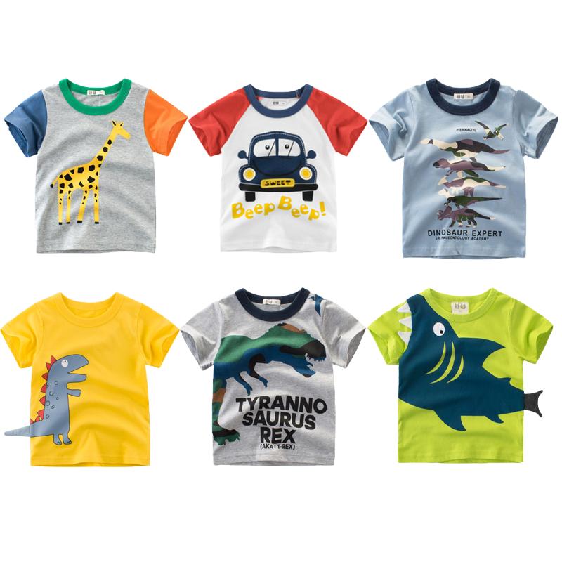 儿童短袖t恤纯棉男童夏装2020新款童装宝宝上衣小童半袖圆领潮