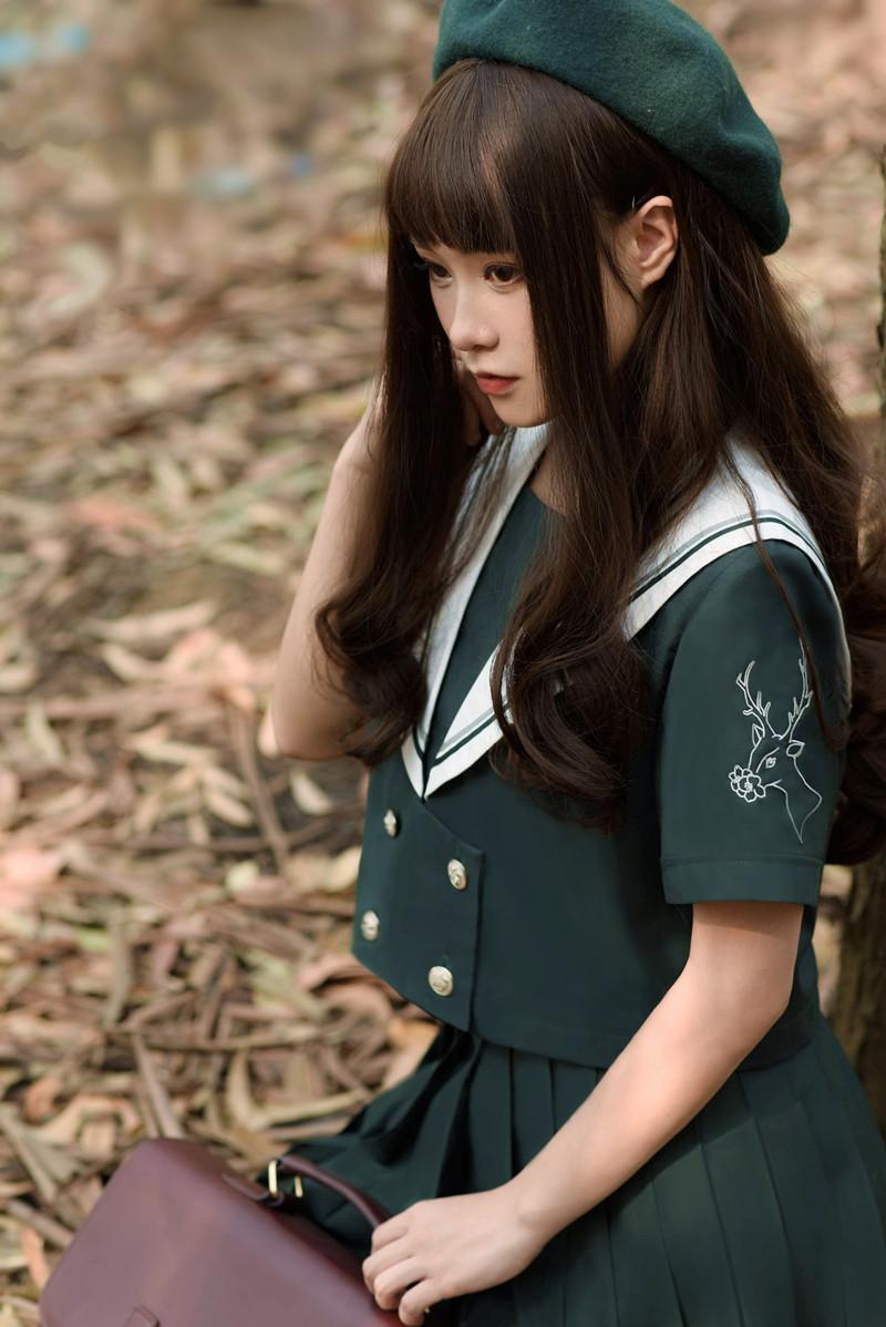 森林鹿日本正统JK制服正统水手服学院风软妹女学生演出校班服套装