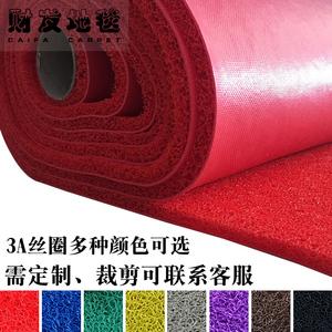 塑料地毯pvc丝圈地垫加厚入户进门脚垫迎宾 家用消毒防滑垫可剪裁
