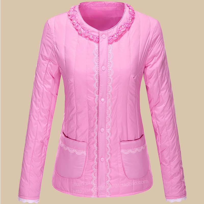 Autumn and winter warm down cotton padded clothes womens wear light short inner liner, slim fit and bottoming, wear small cotton padded jacket and tight cotton padded clothes inside and outside