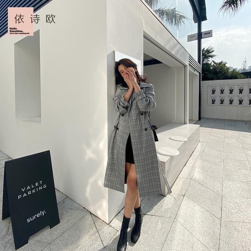 New Retro Plaid suit for womens coat spring / summer 2020