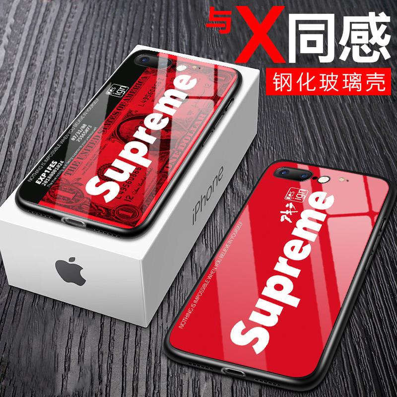 苹果6p钢化玻璃6手机壳iphone6plus超薄防摔套6sp潮男女款6s欧美ins六抖音网红外壳6splus个性创意潮牌女i6