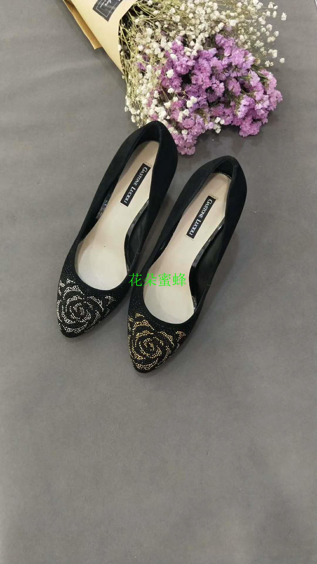 玫瑰礹c.??$9.?_歌斯东尼经典款镂空玫瑰跟瓢鞋7c03292 3302