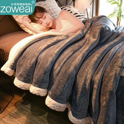 双层毛毯被子加厚冬季保暖珊瑚绒毯子午睡休法兰绒小沙发盖毯床单