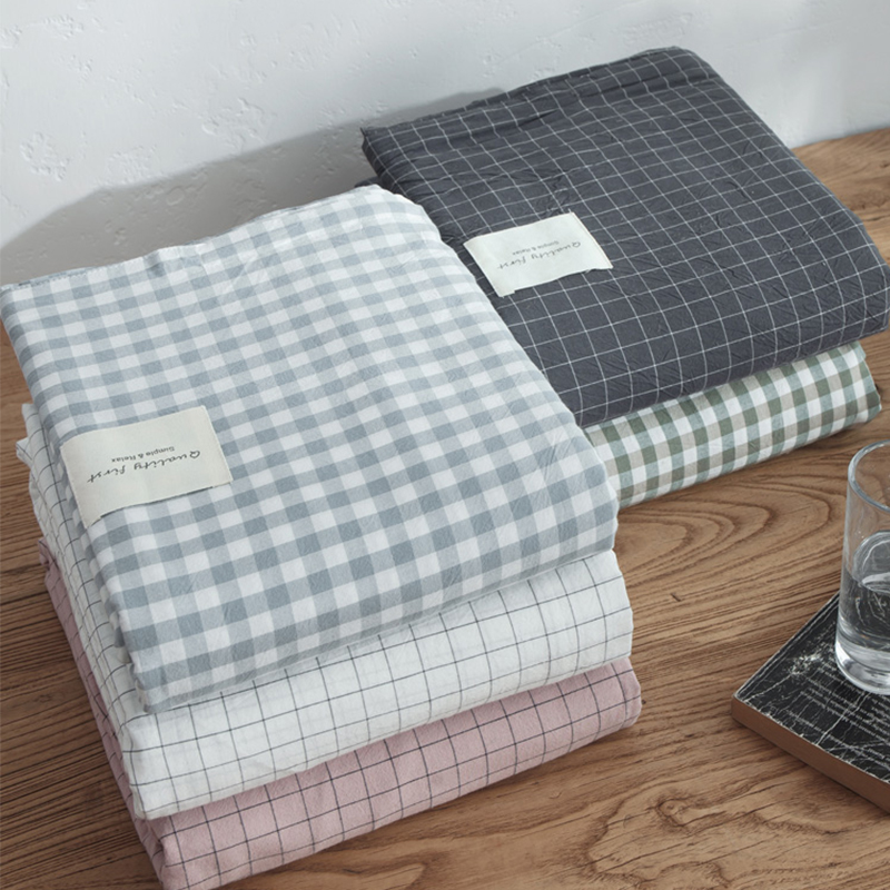 日式純棉床單單件水洗棉100%棉春夏單人雙人宿舍全棉布被單純色