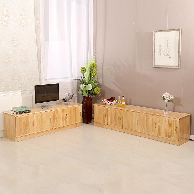 简约实木电视柜 客厅松木电视柜地柜矮柜收纳柜  阳台边柜可定制