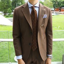 修身 欧式 舒适纯色百搭新郎绅士青年西装 时尚 复古休闲商务西服男士