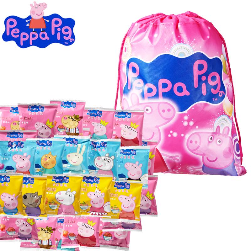 小猪佩奇VC果汁软糖草莓水蜜桃蓝莓味混合装糖果佩琪儿童零食500g