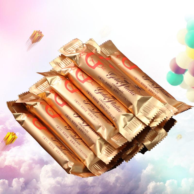 汇福园果仁巧克力棒500g70颗纯黑巧克力结婚喜糖散装零食礼包批发