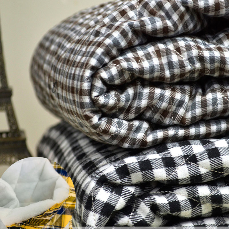 All cotton milled Plaid Cotton Fabric Pure Cotton Quilted Vest cotton coat lining fabric compression air conditioner quilt