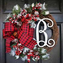 Christmas American Wreath door hanging decoration creative Christmas simulation wreath wall hanging decorative rattan layout decorations