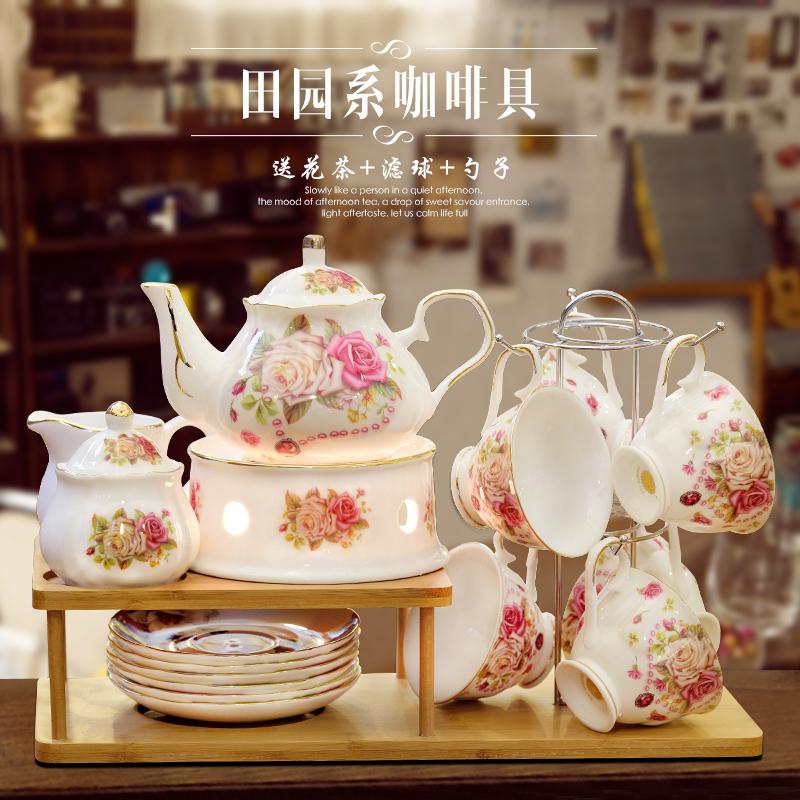 Континентальный чайный сервиз домой днем чай чайный сервиз керамика кофе установите британская ароматный чай чашка выйти замуж дары