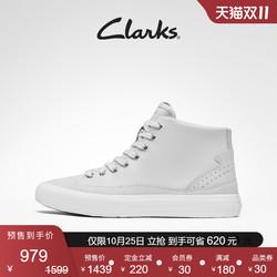 【双11预售】Clarks其乐女鞋2021秋季新款高帮鞋休闲百搭小白鞋女