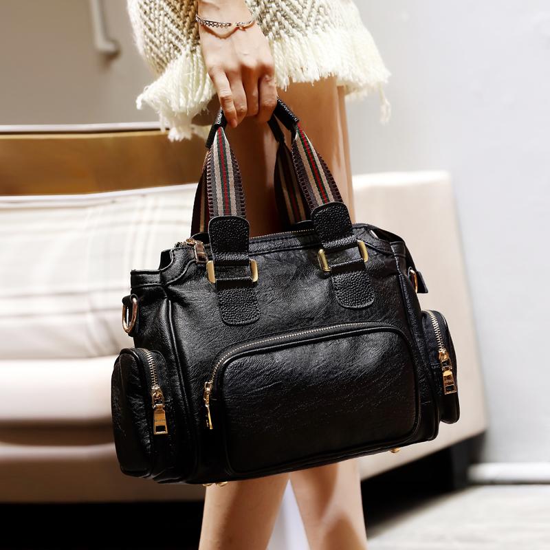 香港包包女包新款2020女士单肩斜挎包时尚百搭手提包真皮波士顿潮