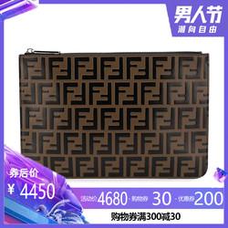 正品FENDI/芬迪男包新款双F经典logo男士手拿包真皮时尚信封包
