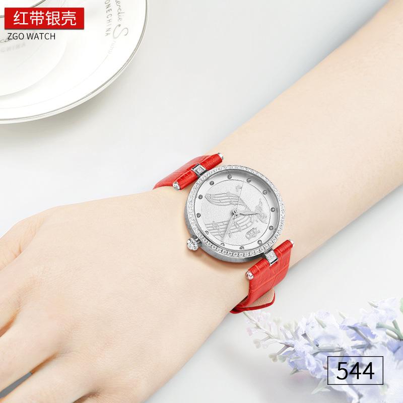 正港手表女装饰潮流时尚防水水钻韩国玫瑰金皮带石英表复古女士表